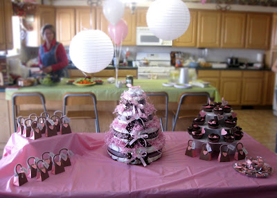 Cutie Pies Custom Creations: Pink & Brown Baby Shower Feature