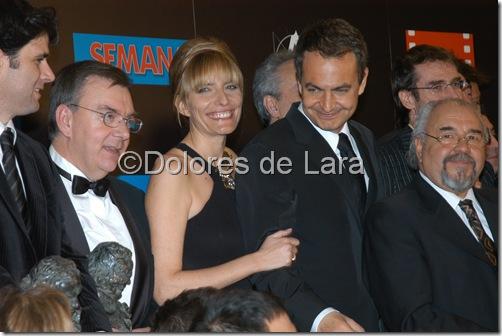 Junto a su esposa en la Gala de los Goya 2004