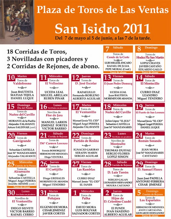 CARTELES SAN ISIDRO 2011