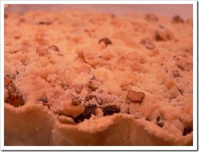 Mincemeat crumble tart