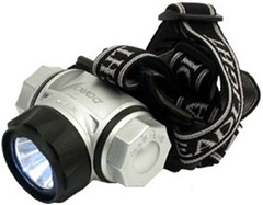 Dorcy International 145-Lumens 3AAA LED Aluminum Headlamp with Batteries