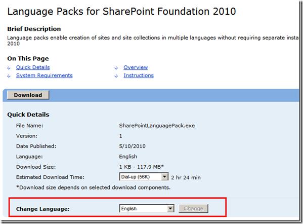 Language Pack 2010