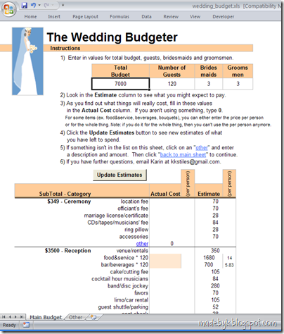 wedding budgeter madebyk downloads