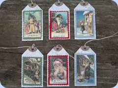 EWE N ME PRINTABLES layered santa tags 10-22-09