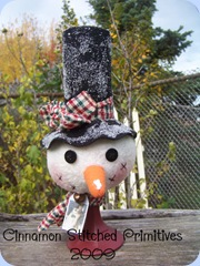 CINDY MARTIN COUNTRY FRIENDS snowman nodder 10-26-09