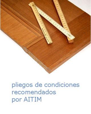 aitim_Pliegos de condiciones-madera