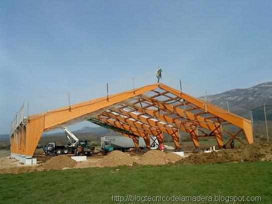 Blog t cnico de la madera estructura de madera laminada - Estructura madera laminada ...