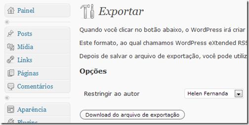 Exportar posts