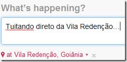 Tuitando da Vila Redenção