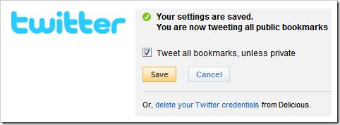 Salve o Twitter no Delicious