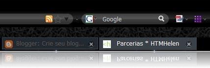 Firefox 3 com ícone de feed