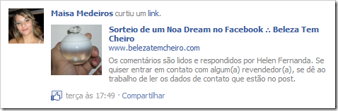 Maisa Medeiros ganhou o Noa Dream