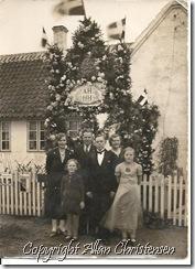 Allans mor med søskende ved forældrenes sølvbryllup 1935
