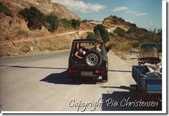 Lejet bil på Kreta