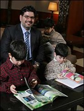 Naif al-Mutawa with his sons
