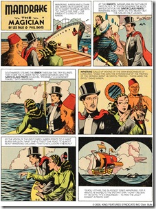 Mandrake the Magician - Colored Sunday Srip (1939)