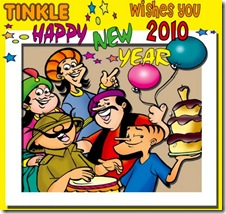 Tinkle Happy New Year 2010