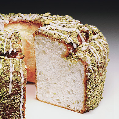 Jan CAN Cook: Lime Angel Food Cake with Lime Glaze and Pistachios