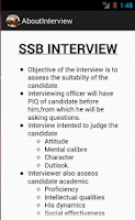 Screenshot of SSB INTERVIEW