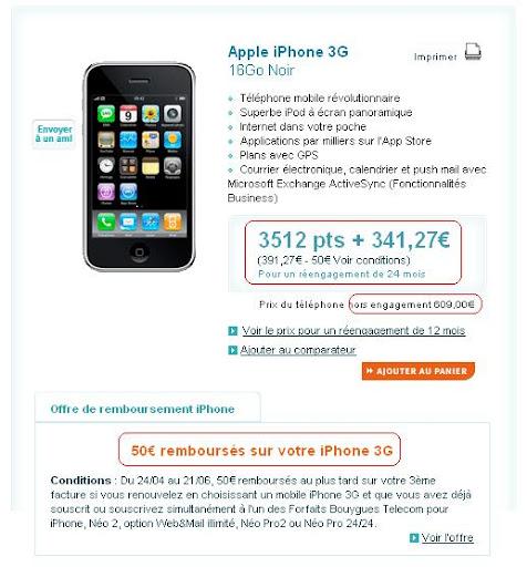 L'iPhone en renouvellement chez Bouygues