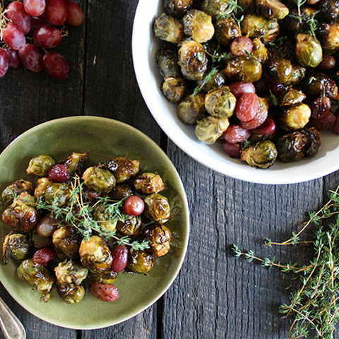 Roasted Brussels Sprouts With Grapes and Walnuts Recipe | Yummly