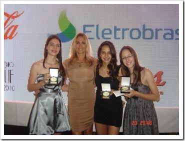 Larissa, Hortência,  Rafaela e Maria Paula