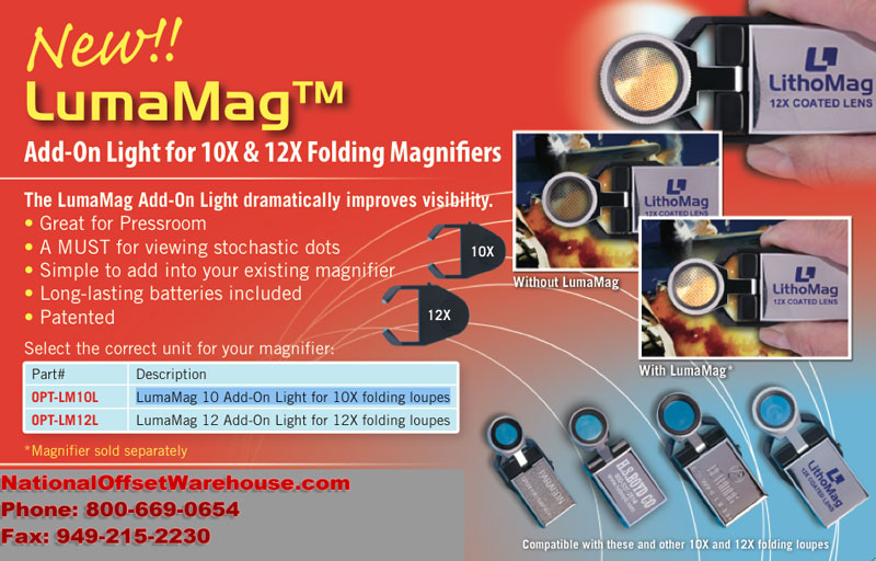LumaMag Loupe Light for Pressroom Loupes