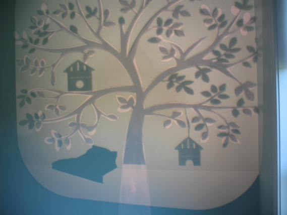 Tree Mural Tutorial Just a Girl Blog