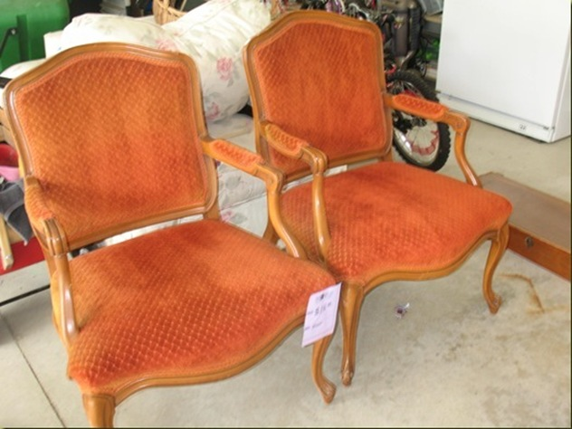 orange louis philippe chairs