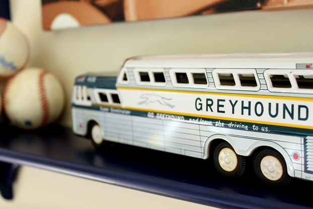 vintage greyhound bus