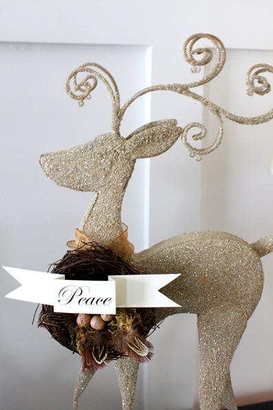 gold reindeer