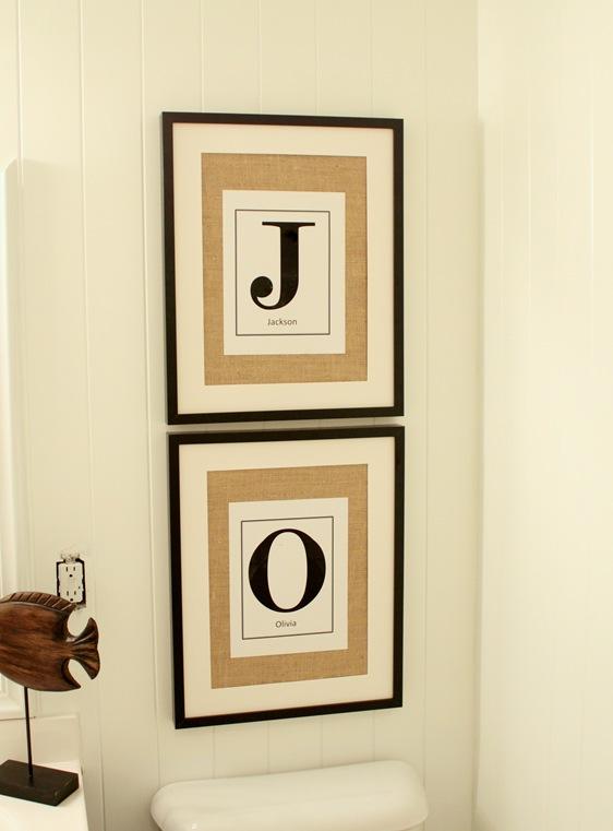 framed burlap