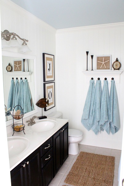How to decorate series day 6 window treatment tips by for Beach inspired bathroom designs
