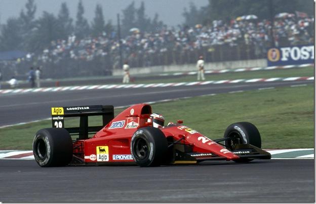 F1DataBase - Jean Alesi, Ferrari - México 1991