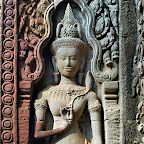Thommanon Devata (sacred female image). The delicacy of her hand is a legacy of the Khmer carver's skill...more than 900 years later. Siem Reap, Cambodia http://www.Devata.org