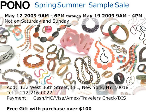 PONO sample sale, until 5/19 in NYC! featured on Shopalicious.com
