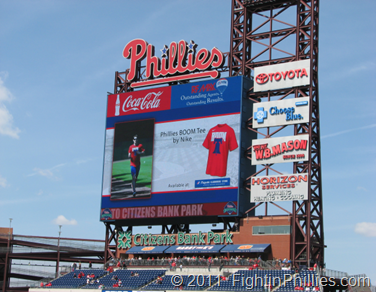 fightinphillies.com, New video scoreboard