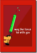 star wars get well card lightsaber force