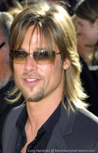 Brad Pitt Celebrity Hairstyle � Men Long Hairstyle