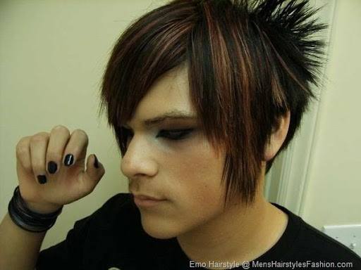 Emo hairstyles for men can be stylized for both long as well as short hair.