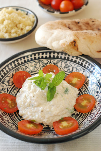 kishkeh, bulgur and yogurt salad
