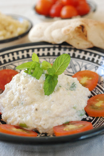 kishkeh, bugur and yogurt salad