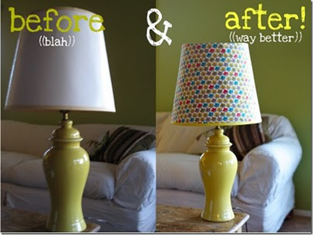 Yellow Lamp Makeover @ Yellow Songbird