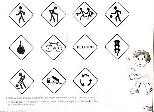 Señales de transito preventivas para colorear e imprimir - Imagui