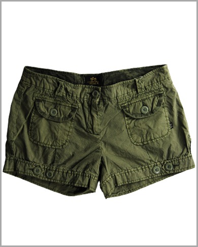 Ladies%20Hot%20Shorts-Olive%20Green