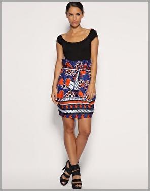 print paperbag skirt