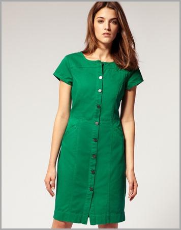 cap green dress