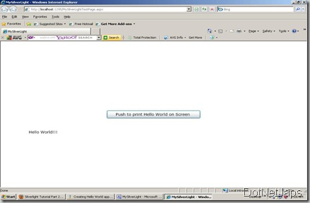 Silverlight in Browser,SilverLigh Helloworld