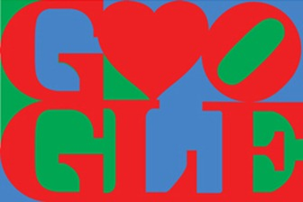 Happy Valentine's Day From Google And Robert Indiana