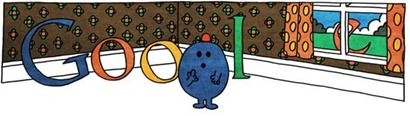 76th Birthday Of Roger Hargreaves-Mr Forgetful Google Doodle Logo